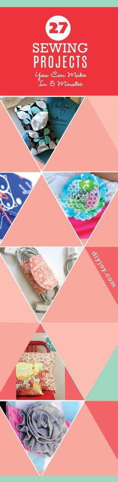 Quick Sewing Projects - Easy Sewing Projects Ideas http://diyjoy.com/quick-sewing-projects-diy-ideas