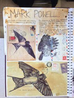 Trendy gcse art sketchbook layout birds Ideas A Level Art Sketchbook Water A Level Art Sketchbook, Sketchbook Layout, Textiles Sketchbook, Sketchbook Pages, Sketchbook Inspiration, Sketchbook Ideas, Arte Gcse, Artist Research Page, Art Analysis