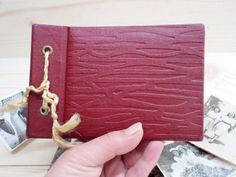 Vintage 1967 small Photo Album Small Red Album by GuestFromThePast