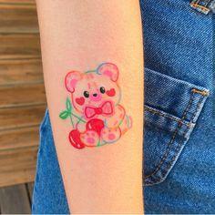 lovelove on ig : honeybug Cute Little Tattoos, Cute Tats, Cute Small Tattoos, Pretty Tattoos, Beautiful Tattoos, Mini Tattoos, Dream Tattoos, Future Tattoos, Body Art Tattoos