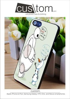 baymax and Olaf Disney iPhone for 4 5 5c 6 Plus Case, Samsung Galaxy for S3 S4 S5 Note 3 4 Case, iPod for 4 5 Case, HtC One for M7 M8 and Nexus Case