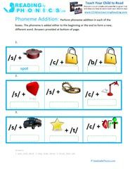 Phonemic Addition and Deletion Worksheets & Activities For Kids