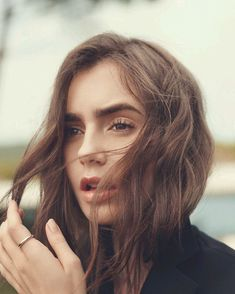 You can find Lily collins and more on our website. Jamie Campbell Bower, Makeup Trends, Pixie Cut, Actresses With Black Hair, Selena Gomez, New Hair, Your Hair, Celebrity Eyebrows, Medium Hair Styles