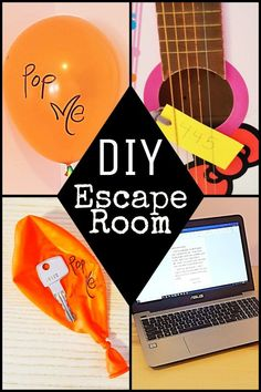 DIY Escape room for kids to do at home. Try it out with your kids using materials from around your house. Great for problem solving! The rooms works well for parties or for just one child. School Age Activities, Halloween Activities For Kids, Summer Activities For Kids, Games For Kids, Dementia Activities, Elderly Activities, Motor Activities, Reading Activities, Physical Activities