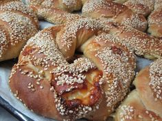 Greek Recipes, Bagel, Food Styling, Doughnut, Recipies, Food And Drink, Cooking Recipes, Snacks, Baking