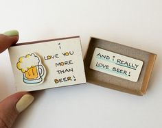 Cute Love Card/ Surprise Box/ Gift for him/ Gift for by 3XUdesign