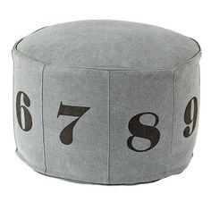 Numbers Pouf (Grey)  | The Land of Nod