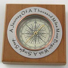 Handmade Pewter Desktop Compass