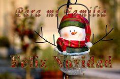 Feliz Navidad para toda mi familia