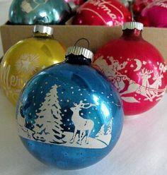 Shiny Brite Glass Ornaments