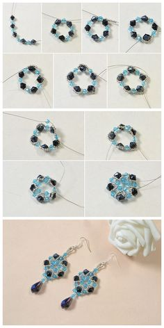 #Beebeecraft shows u how to make faceted #glassbeads #earrings