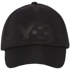 73a1843a8ef Y-3 Women Y-3 Logo Baseball Cap (350 SAR) ❤ liked on Polyvore featuring  accessories