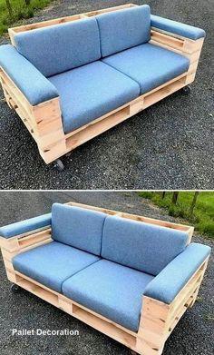 Pallet Furniture Designs, Pallet Garden Furniture, Diy Furniture Couch, Diy Outdoor Furniture, Furniture Projects, Furniture Makeover, Furniture Plans, Palette Furniture, Furniture Websites