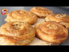 Oklava kullanmadan Kolay El Açası Börek/El açması kıymalı börek/Azime Aras - YouTube Borek Recipe, Turkish Recipes, Finger Foods, Apple Pie, Muffin, Food And Drink, Appetizers, Yummy Food, Cooking