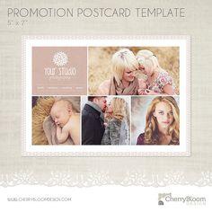 Förderung Postkarte Vorlage für Fotografen von CherryBloomDesign