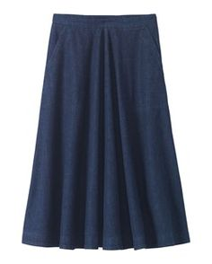 DENIM FULL SKIRT by TOAST