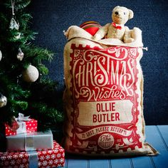 Red Rowland Personalised Christmas Sack