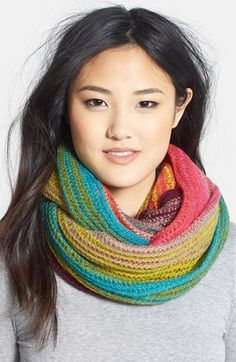 love this multi-colored infinity scarf http://rstyle.me/n/qyyymr9te