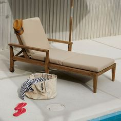 Outdoor Single-Lounger Cushions | West Elm