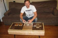 SAY WHAT!? - Custom Coffee Table Acts as Giant Nintendo Controller