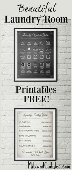 Diy: Laundry Room Printables