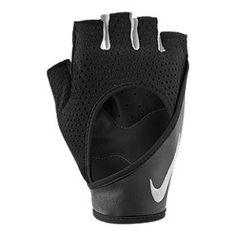guantes nike gym plata