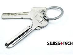 The Swiss Tech Utili-Key Multi-Tool looks so much like a key, you probably wouldn't realize that it is actually a multi-tool gadget that has 6 different uses.