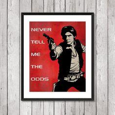 Vintage Movie Art Prints. Star Wars Poster Han by SparkleBarley