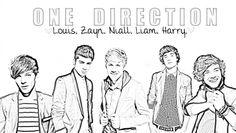 one direction coloring pages printable pages