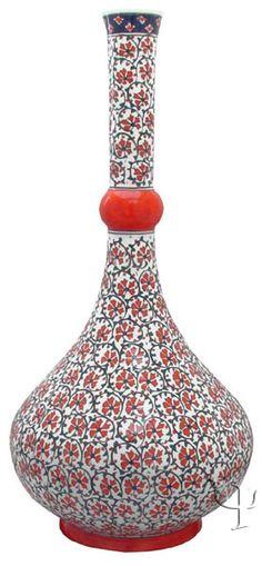 Iznik Design Ceramic Vase ༺JS༻