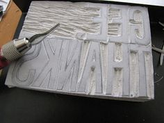 lino block cutting. i did this as a kid at school!