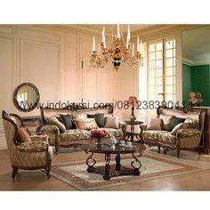 Model Sofa Ruang Tamu Mewah Kayu Jati