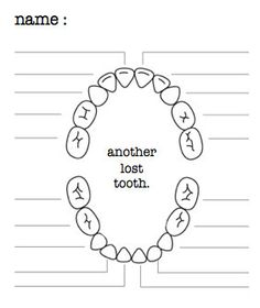 tooth fairy lost tooth chart    free printable  oh