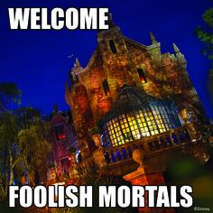 Welcome, Foolish Mortals, to the Haunted Mansion #WaltDisneyWorld #MagicKingdom #Disney