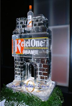 Ketel One Oranje Luge Ice Sculpture _Weddings _Corporate Events _Luges Ice Sculpture Wedding, Ice Luge, Corporate Event Design, Casino Party, Casino Night, Ice Bars, Ice Sculptures, Grand Opening, Fundraising