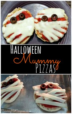 Yummy Mummy Pizzas Halloween Recipe
