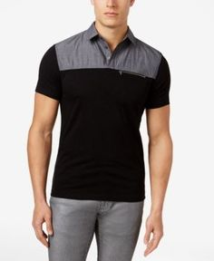 INC International Concepts I.N.C. Men s Colorblocked Cotton Polo, Created  for Macy s Men - Polos - Macy s 9cef82473b5f