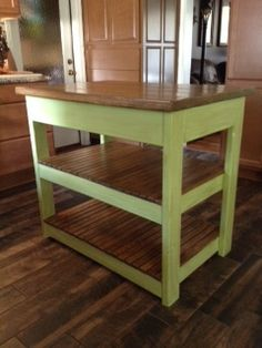 Ana White | Build a Rustic X Small Rolling Kitchen Island | Free and ...
