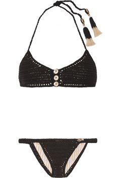 70670917a65fd She Made Me - Savarna crocheted cotton triangle bikini. Tali Burak ·  swimwear