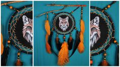Dreamcatcher Orange Сrescent Dream Catcher Large Dreamcatcher Dream сatcher dreamcatchers boho Orange black dreamcatcher wall decor handmade    all products in my profile made personally, all the goods are in stock - items can sent in the order day      This amulet like Dreamcatcher - is not just a decoration of the interior. It is a powerful amulet, which is endowed with many properties:    - Dreamcatcher protects and ensures a healthy sleep to the owner;    Dreams - Catchers helps in…