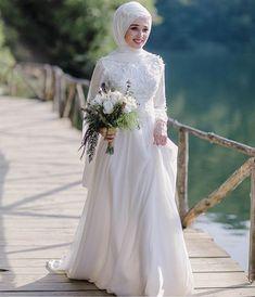 dresses dress – About Wedding Dresses Muslimah Wedding Dress, Muslim Wedding Dresses, Muslim Brides, Wedding Hijab, Bridal Wedding Dresses, Wedding Bride, Wedding Makeup, Most Beautiful Dresses, Long Sleeve Wedding
