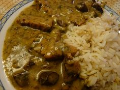 PIKANTNÍ VEPŘOVÉ S HOUBAMI A KOPREM Grains, Pork, Rice, Meat, Kale Stir Fry, Seeds, Pork Chops, Laughter, Jim Rice