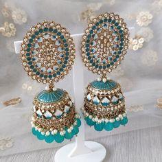 Jhumki Earrings, Dangle Earrings, Silver Paint, Teal Blue, Dangles, Inspiration, Biblical Inspiration, Silver Color, Drop Earrings