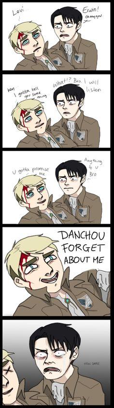Danchou jokes. Attack On Titan Hoodie, Attack On Titan Funny, Attack On Titan Anime, Levihan, Ereri, Levi Ackerman, Shingeki No Kyojin, One Punch, Fandoms