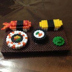 3D Sushi perler beads by xSuzukiii