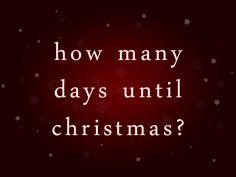 Christmas Countdown 2013!