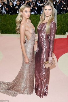 Stella Maxwell flashes a mass of sideboob at the Met Gala Satin Dresses, Sexy Dresses, Nice Dresses, Vogue Fashion, Fashion Models, Backless Gown, Met Gala Red Carpet, Stella Maxwell, Fashion Figures