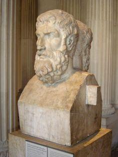 Ο Επίκουρος (341 π.Χ. - 270 π.Χ.) , προτομή στο μουσείο του Λούβρου