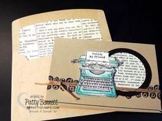 Envelope liner big shot framelits make a big impact on your stamped card projects. #stampinup #envelopeliner #pattystamps