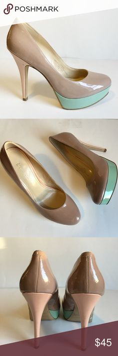 🆕 Nude Patent Pumps Not your average nude pump! The glossy patent finish and striking stiletto heel ensure you'll shine above the crowd. Nude, mint green, & peach. Worn once. In great condition. Enzo Angiolini Shoes Heels